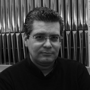 Il Maestro Andrea Vannucchi nella chiesa di S.Francesco