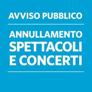AGGIORNAMENTO| SOSPENSIONE ATTIVITÀ DI SPETTACOLO FINO AL 17 MAGGIO 2020